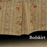 Antique Rose Tailored Bedskirt Flax