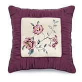 Mystic Garden Embroidered Pillow Fawn 18 Square