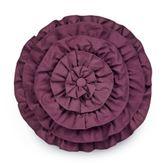 Mystic Garden Ruffled Pillow Fawn Round
