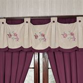Mystic Garden Wide Swag Valance Fawn 74 x 20