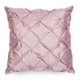 Enchante Pintuck Pillow Dusty Mauve 18 Square