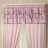 Enchante Ruffled Valance Dusty Mauve 72 x 18