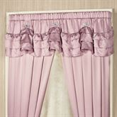 Enchante Scalloped Valance Dusty Mauve 72 x 18