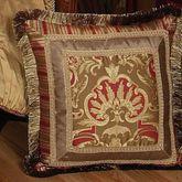 Botticelli Fringed Pillow Antique Gold 18 Square
