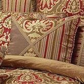 Botticelli Piped Pillow Antique Gold 18 Square