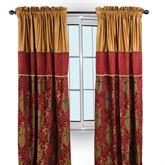 Montecito Tailored Wide Curtain Pair Merlot 104 x 84