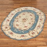 Rose Aubusson Sculpted Oval Rug 4 x 6 Oval