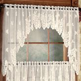 Vineyard Lace Swag Valance Pair