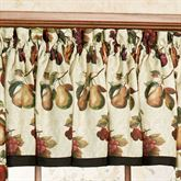 Fruits du Marche Tailored Valance Light Cream 57 x 13