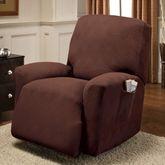 Optic Stretch Furniture Cover Jumbo Recliner