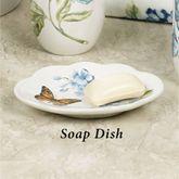 Lenox Blue Floral Garden Soap Dish