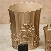 Opulence Wastebasket Champagne Gold