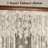 Dancing Leaves Lace Insert Valance Ivory 60 x 18
