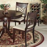 Carwyn Chair Set Rich Mahogany Set of Two