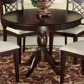 Carwyn Pedestal Dining Table Only Rich Mahogany