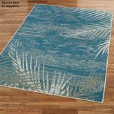 Distressed Palm Rectangle Rug