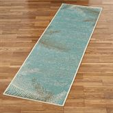 Distressed Palm Rug Runner