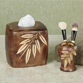 Bamboo Leaf Toothbrush Holder