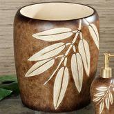 Bamboo Leaf Wastebasket