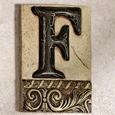 Alphabet Tile PlaqueLetter F