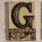 Alphabet Tile PlaqueLetter G