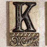Alphabet Tile PlaqueLetter K