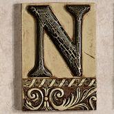 Alphabet Tile PlaqueLetter N