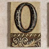 Alphabet Tile PlaqueLetter O