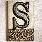 Alphabet Tile PlaqueLetter S