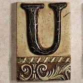 Alphabet Tile PlaqueLetter U