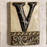 Alphabet Tile PlaqueLetter V