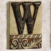 Alphabet Tile PlaqueLetter W