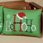 Ho Ho Ho Decorative Pillow Green Rectangle