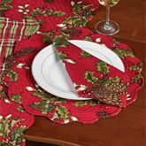 Kellyn Round Placemats Red Set of Four