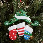 Three Mitten Family Ornament Multi Warm