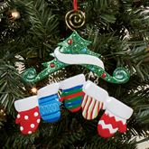 Five Mitten Family Ornament Multi Warm
