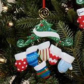 Six Mitten Family Ornament Multi Warm