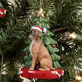 Boxer Christmas Ornament Multi Warm