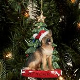 German Shepherd Christmas Ornament Multi Warm