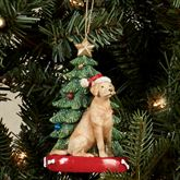 Yellow Lab Christmas Ornament Multi Warm