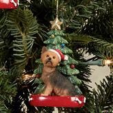 Yorkshire Terrier Christmas Ornament Multi Warm