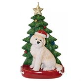 Cream Goldendoodle Christmas Ornament Multi Warm