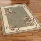 Fleur de Bouquet Rectangle Rug Sage