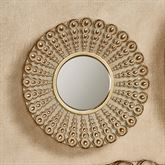 Alexander Beaded Round Wall Mirror Gold Small