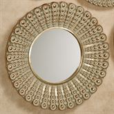 Alexander Beaded Round Wall Mirror Gold Large