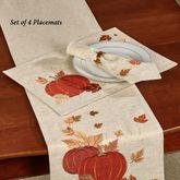 Shimmering Harvest Placemats Natural Set of Four