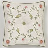 Pretty Posy Tufted Pillow Ivory 18 Square