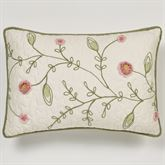 Pretty Posy Tailored Pillow Ivory Rectangle