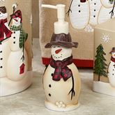 Snowmen Gathering Lotion Soap Dispenser Natural
