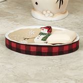 Snowmen Gathering Soap Dish Natural